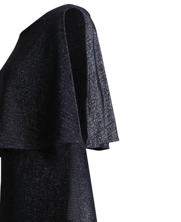 Connected Plus Size Metallic Cape Jumpsuit & Reviews - Dresses - Plus Sizes - Macy's