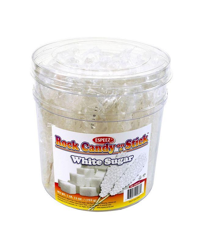 ESPEEZ Clear White Rock Candy Sticks, 36 Count