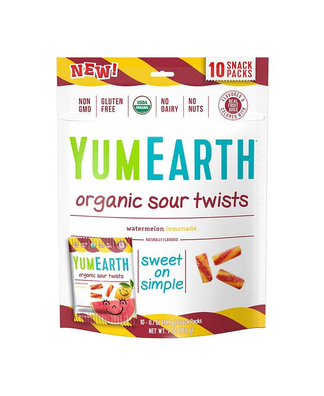 Yum Earth Organic Sour Twists, 7 oz, 3 Pack