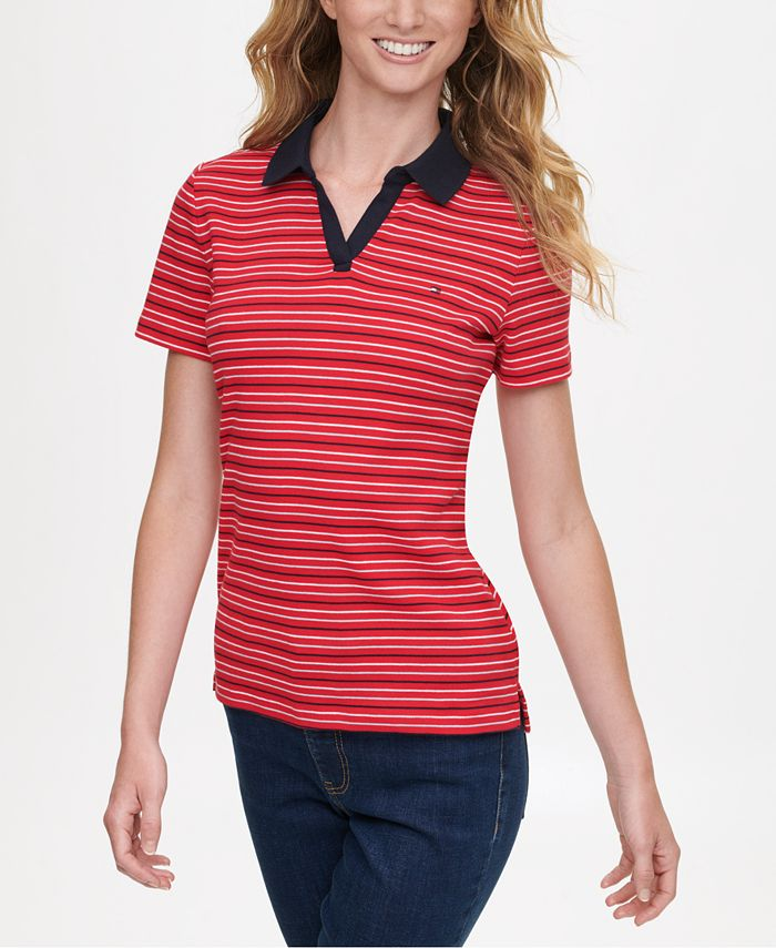 Tommy Hilfiger - Cotton Striped Polo Shirt