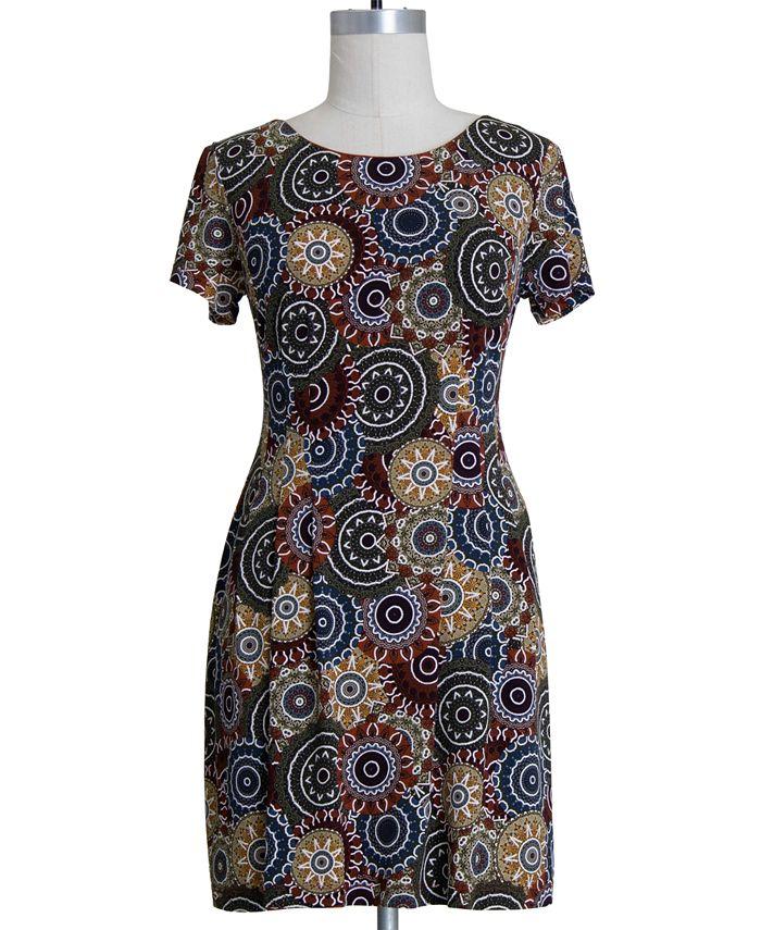 Connected - Plus Size Medallion-Print Dress