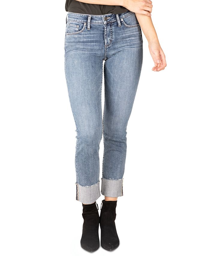 Silver Jeans Co. - Avery Curvy-Fit Straight-Leg Jeans