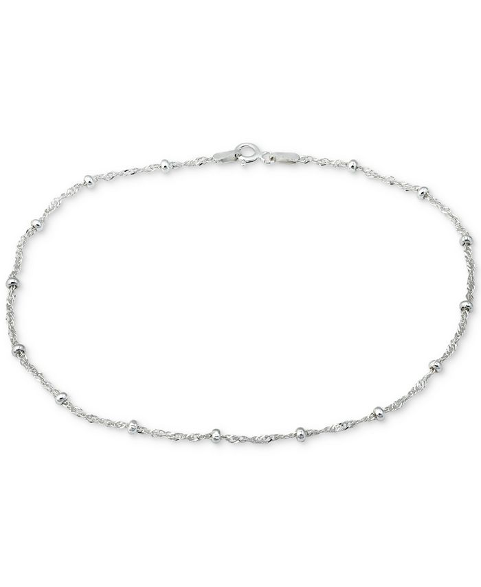 Giani Bernini - Sterling Silver Anklet, Singapore Chain