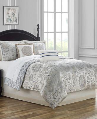 CLOSEOUT! Lynne Reversible Queen 4 Piece Comforter Set