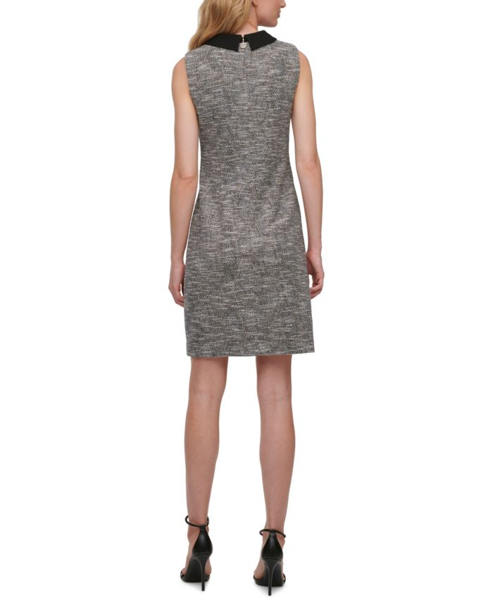 Tommy Hilfiger Petite Collared Tweed Sheath Dress   & Reviews - Dresses - Petites - Macy's