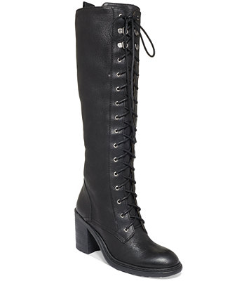 Nine West Lory Tall Combat Boots