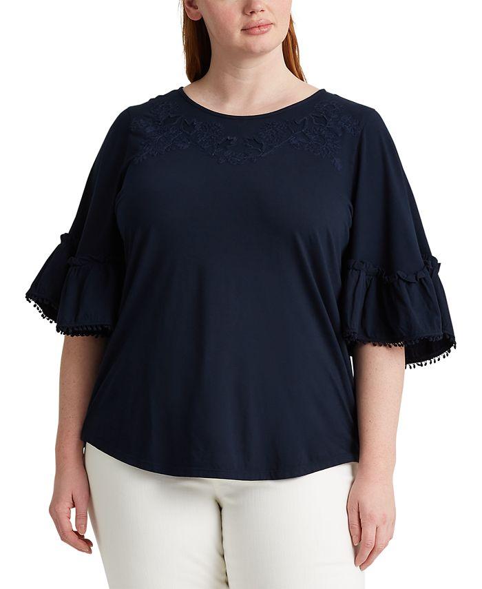 Lauren Ralph Lauren - Plus Size Elbow Sleeve Top