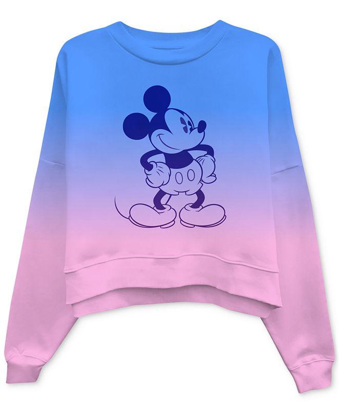 Disney Juniors' Mickey Mouse Dip-Dyed Sweatshirt