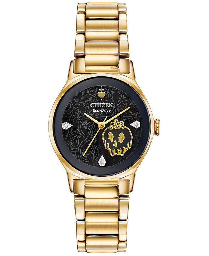 Citizen - Women's Evil Queen Diamond-Accent Gold-Tone Stainless Steel Bracelet Watch 28mm