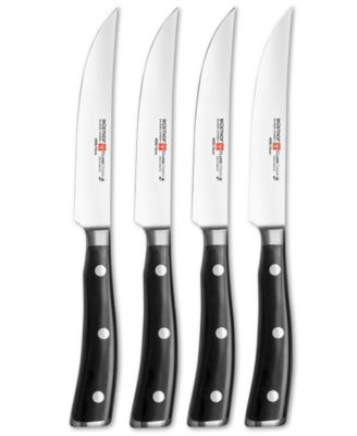 Wusthof Classic Ikon Steak Knives, 4 Piece Set
