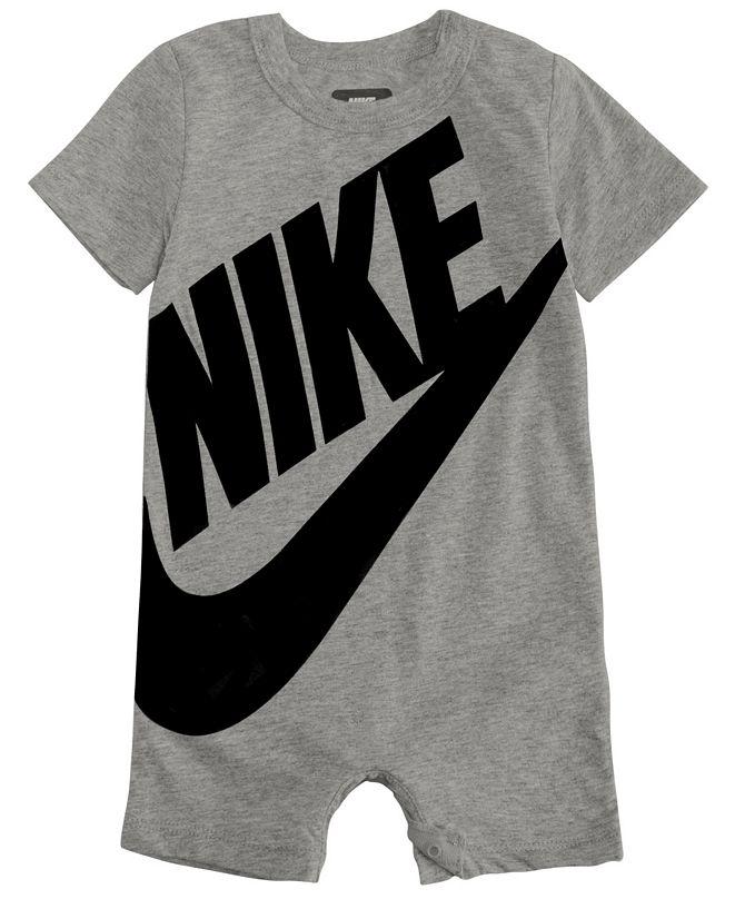 Nike Baby Boys Short Sleeve Logo Romper