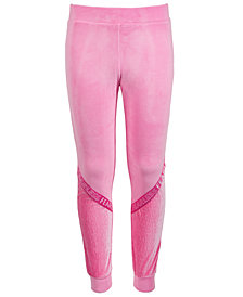 Ideology Big Girls Velour Tape Sweatpants, Created for Macy's