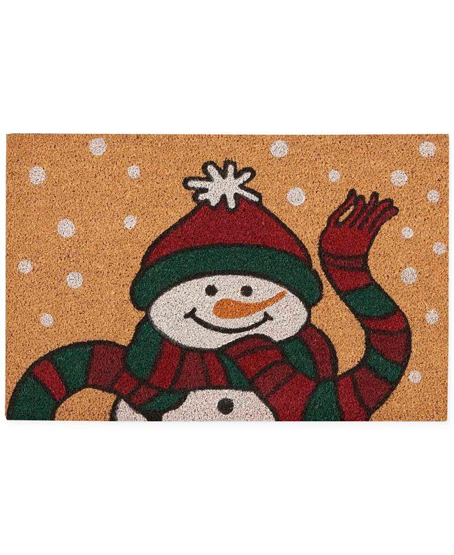"""Nourison Snowman 18"""" x 28"""" Door Mat"""