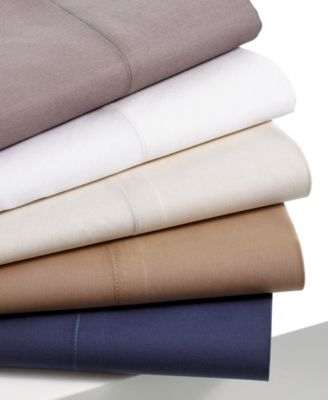 Charter Club Bedding, 400 Thread Count Tailored Fit Solid Queen Sheet Set
