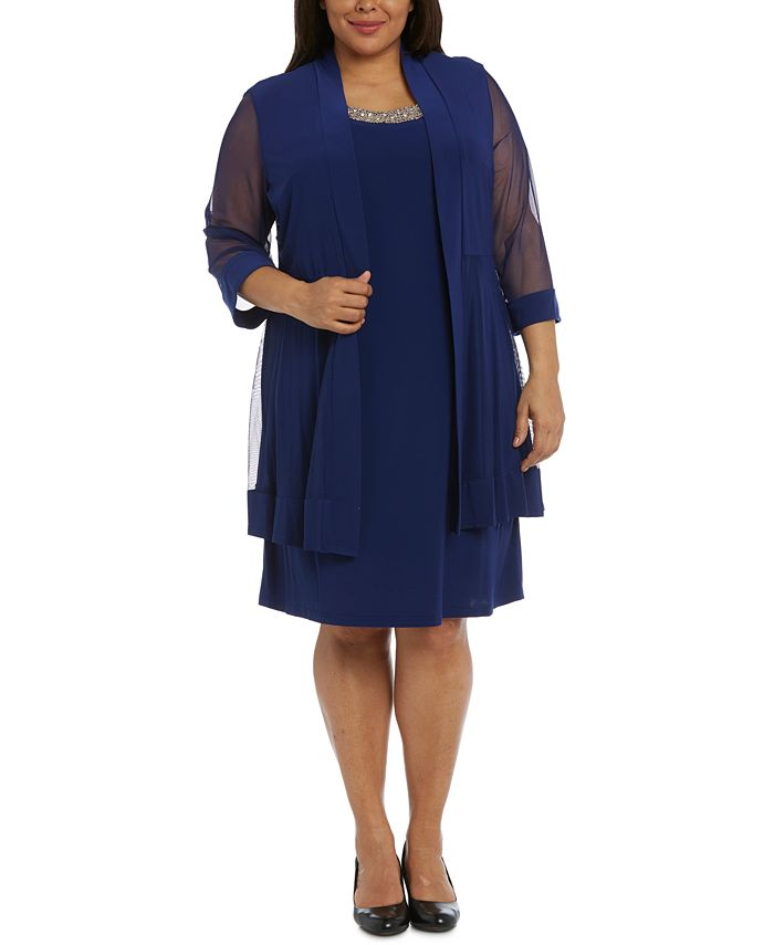 R & M Richards - Plus Size Shift Dress and Jacket