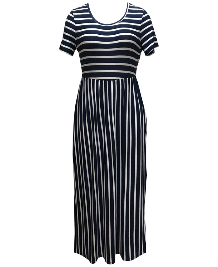 Style Co Petite Striped Maxi Dress Created For Macy S Reviews Dresses Petites Macy S