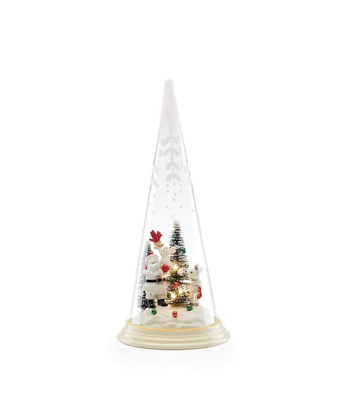 Lenox - Merry & Magic Light-Up Santa & Friends Glass Cone