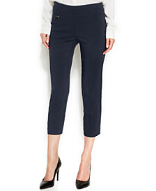 Alfani Curvy-Fit Pull-On Capris, Created for Macy's