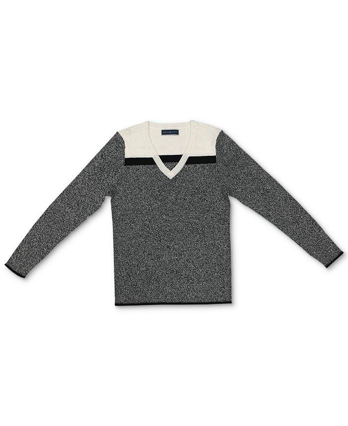 Karen Scott - Alex Cotton Colorblocked V-Neck Sweater