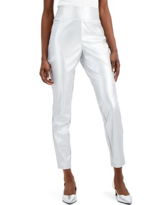 INC Faux-Leather Skinny Pants, Created for Macy