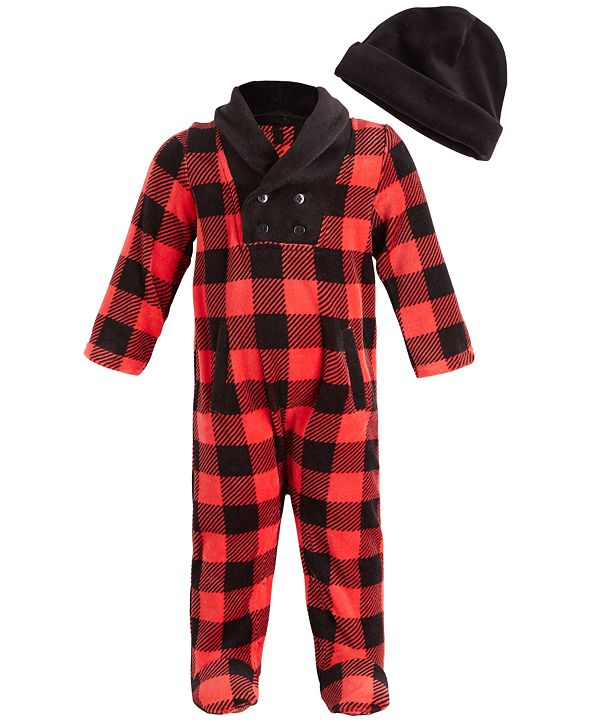 First Impressions Baby Boys Check Collar Coverall, Created for Macy's