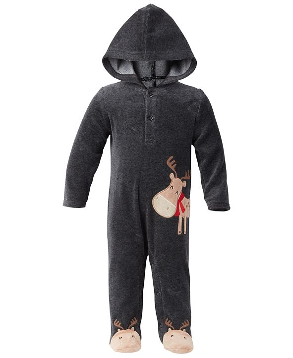First Impressions Baby Boys Moose Coverall, Created for Macy's