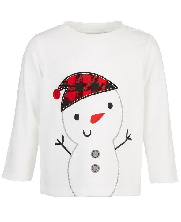 First Impressions Baby Boys Snowman T-Shirt, Created for Macy's