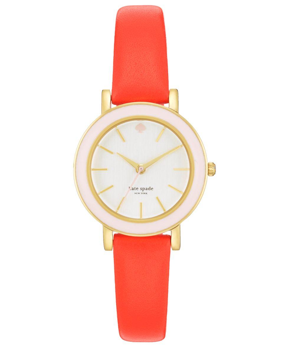 kate spade new york Watch, Womens Metro Orange Alligator Embossed Leather Strap 34mm 1YRU0194   Watches   Jewelry & Watches