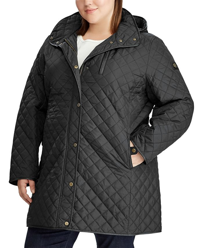Lauren Ralph Lauren - Plus-Size Quilted Hooded Jacket