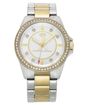 Juicy Couture Watch, Women's Stella Two-Tone Stainless Steel Bracelet 36mm 1901078