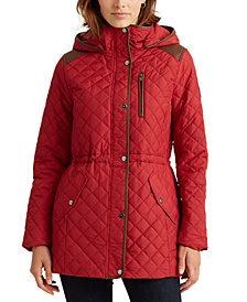 Lauren Ralph Lauren Quilted Hooded Anorak Coat