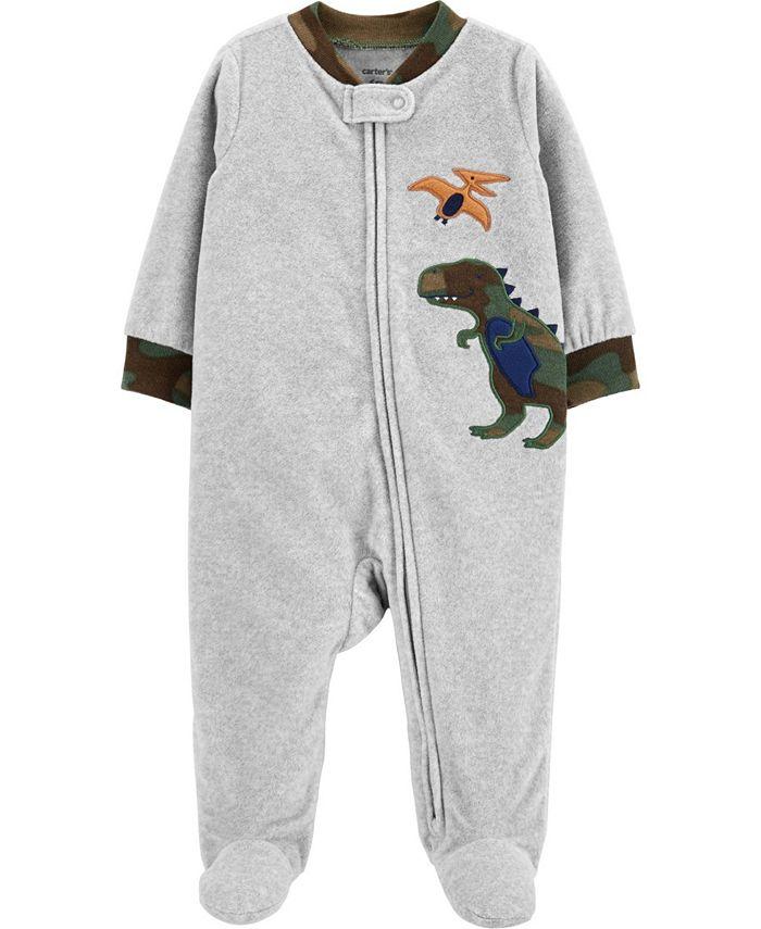 Carter's - Toddler Boy  Dinosaur Zip-Up Fleece Sleep & Play