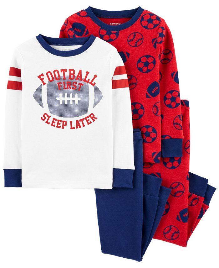 Carter's - Baby Boy  4-Piece Football Snug Fit Cotton PJs