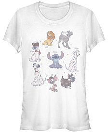 Fifth Sun Women's Disney Classic Multi Franchise Disney Dogs Short Sleeve T-shirt