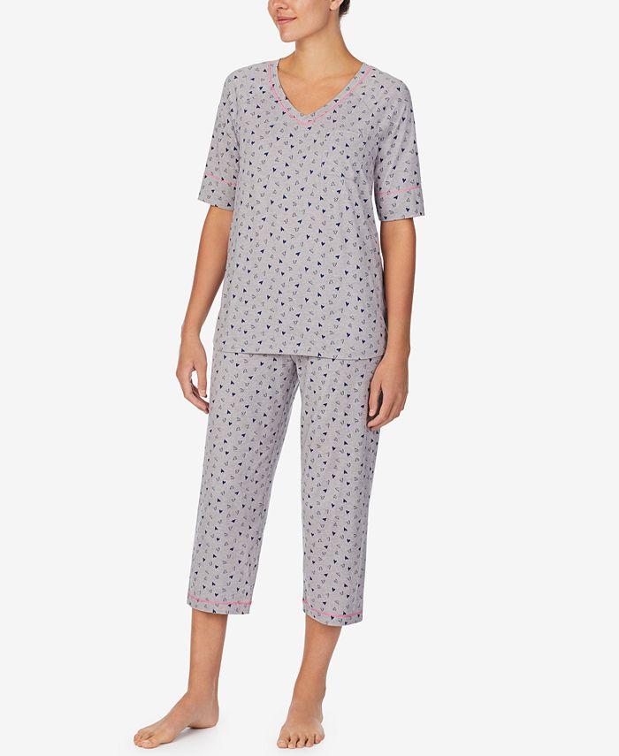 Cuddl Duds - Cuddl Smart Printed Capri Pajamas Set