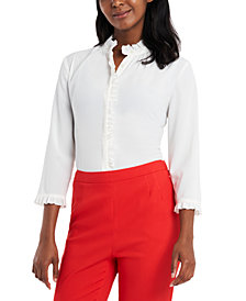 Riley & Rae Penny Ruffled-Trim Blouse, Created for Macy's