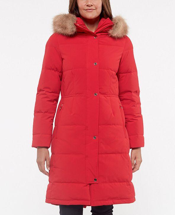 kate spade new york Faux-Fur-Trim Hooded Down Puffer Coat