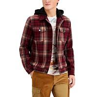 Sun + Stone Men's Plaid Trucker Jacket Deals