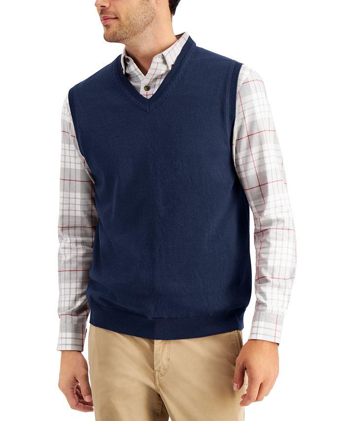 Club Room - Men's V-Neck Sweater Vest