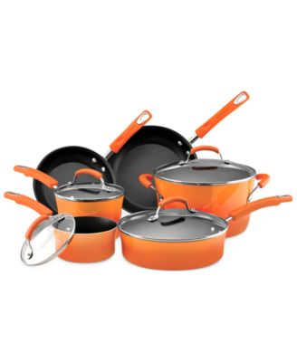 Rachael Ray Hard Enamel 10 Piece Cookware Set