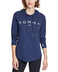 Tommy Hilfiger Logo-Print Hoodie Top
