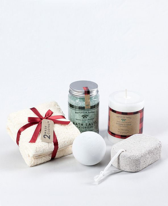 Mistletoe Farms 6-Pc. Spa Bath Gift Set