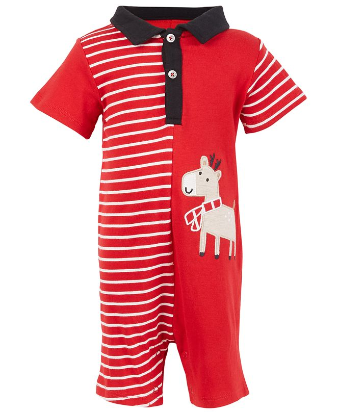 First Impressions Baby Boys Reindeer Sunsuit, Created for Macy's