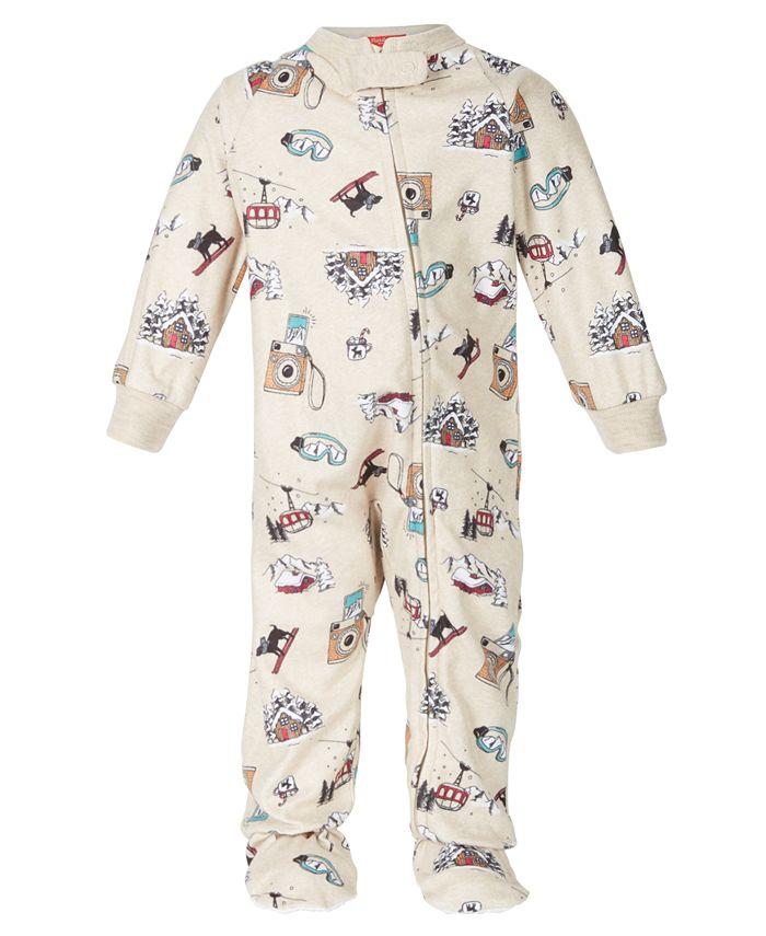 Family Pajamas - Baby Snow Day Footed 1-Pc. Pajama