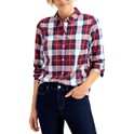 Charter Club Cotton Plaid Shirt, Regular & Petite