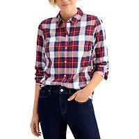 Charter Club Cotton Plaid Shirt Deals