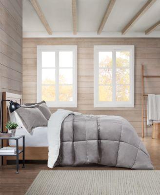 Sherpa Solid Full/Queen Comforter Set