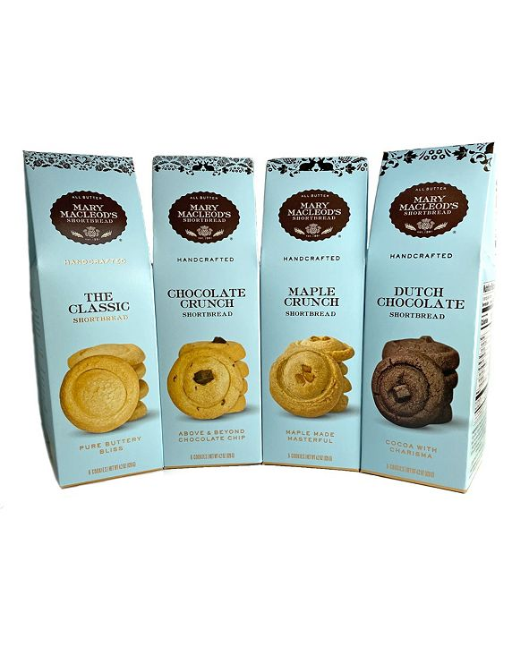 Mary Macleod's Shortbread Peaked Gift Boxes of Shortbread , 4 Pack