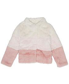 Epic Threads Little Girls Colorblock Coney Faux Fur Full Zip Jacket