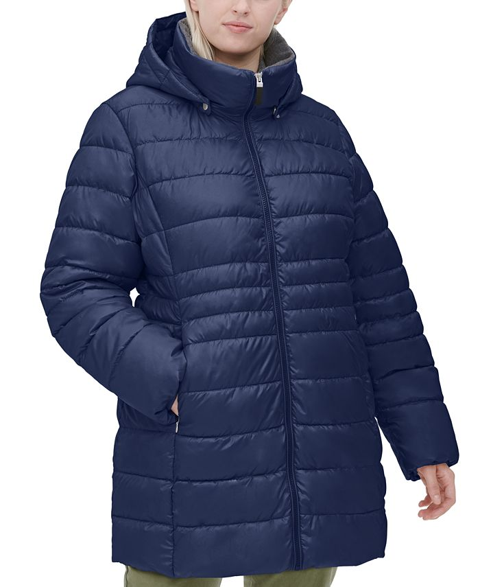 Marc New York - Plus Size Hooded Puffer Coat